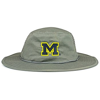 University of Michigan Hat - Wolverines Gray Boonie