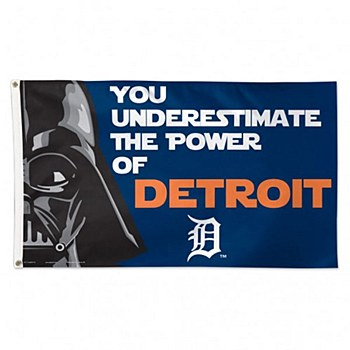 Detroit Tigers Fag - Star Wars Darth Vader Deluxe Flag 3' X 5'