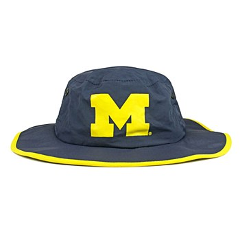 University of Michigan Hat -  Wolverines Blue Waterproof Boonie