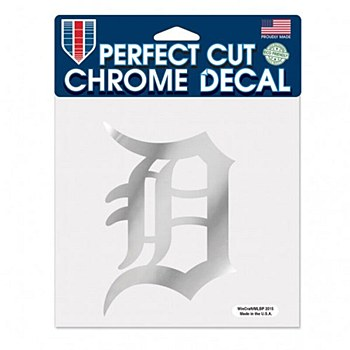 Detroit Tigers Decal Perfect Cut Crome 6'' x 6''
