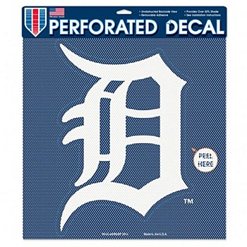 Detroit Tigers Decal Perforated Vinyl Logo 17'' x 17''