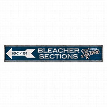 """Detroit Tigers Sign - Wood Bleacher Sections Sign 6"""" x 36"""" 3/8"""""""