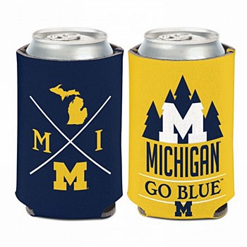 University of Michigan Coozi Can Cooler Hipster 12oz