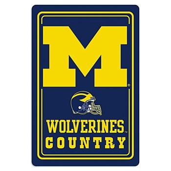 University of Michigan Sign Metal 12' x18''