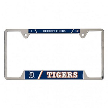 Detroit Tigers License Plate Frame Metal 6'' x 12''