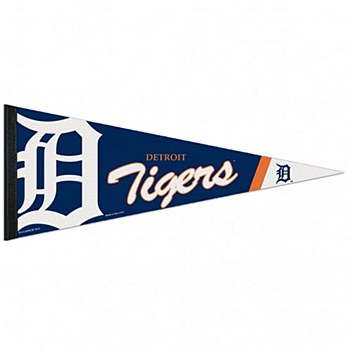 "Detroit Tigers Pennant Premium 12"" x 30"""