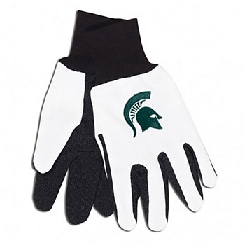 Michigan State University Gloves Adult Two Tone