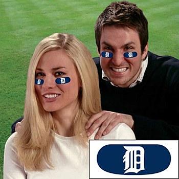 Detroit Tigers Eye Black Strips Face Decorations