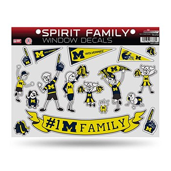 University of Michigan Decal Large Family