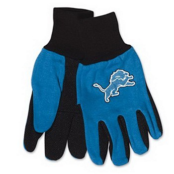 Detroit Lions Gloves Two Tone Adult Size Gloves