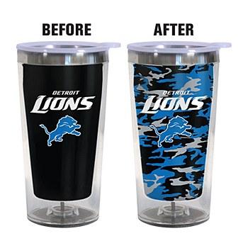 Detroit Lions Color Changing 16oz Travel Mug