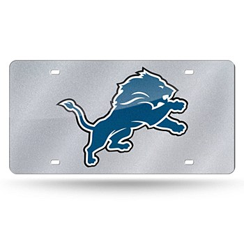 Detroit Lions License Plate Bling Laser Tag by Rico Industries