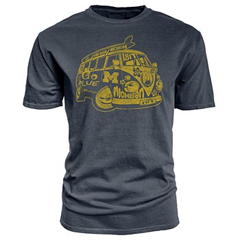 University of Michigan Dyed Ringspun 100% Cotton Tee