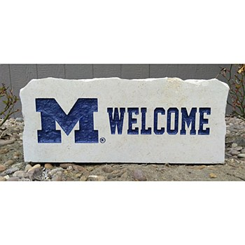 University of Michigan 17in  Welcome Stone