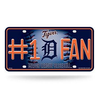 Detroit Tigers #1 Fan Metal Auto Tag