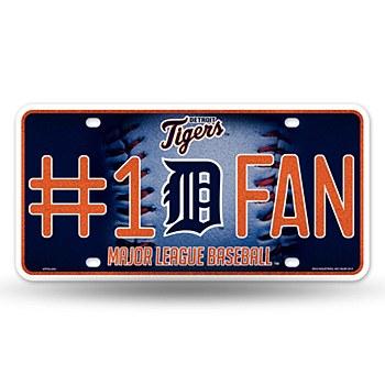 Detroit Tigers Glitter Metal Tag