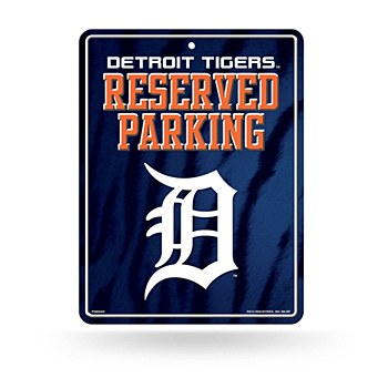 Detroit Tigers Sign - Metal Parking Sign 8.5''x11''