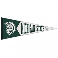 Michigan State University Pennant - College Vault 12'' x 30''