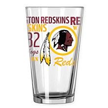 Washington Redskins 16oz Pint Glass