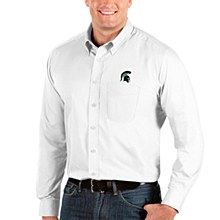 Michigan State Spartans Mens Dynasty Button-Down Long Sleeve Shirt Small