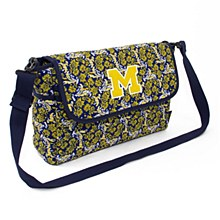 University of Michigan Messenger Bloom, Quilted Bag