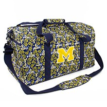 University of Michigan Large Duffel Bloom, Quilted Bag