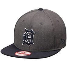 New Era Detroit Tigers Graphite/Navy Original Fit 9FIFTY Snapback Adjustable Hat