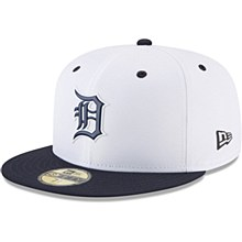 Detroit Tigers New Era On-field Prolight Batting Practice 59FIFTY 7 1/8 White/Navy 2018