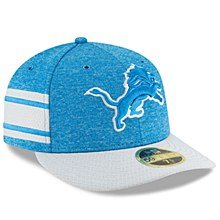 Detroit Lions New Era Blue/Gray 2018 NFL Sideline Home Official Low Profile 59FIFTY Fitted Hat
