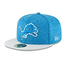 Detroit Lions New Era Blue/Gray 2018 NFL Sideline Home Official  59FIFTY Fitted Hat