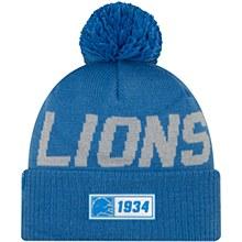 Detroit Lions Men's Sideline Road Sport Pom Knit Hat