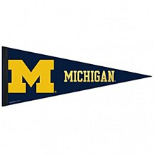 University of Michigan Pennant Premium with Mylar Accents 12'' x 30''