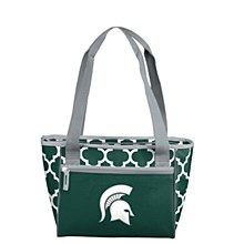 Michigan State University Cooler - Quatrefoil 16 Can Tote