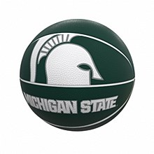 Michigan State University Full-Size Rubber Basketball