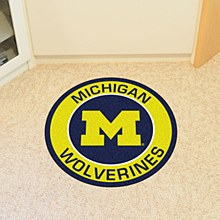 University of Michigan Rug - Roundell Mat 27''