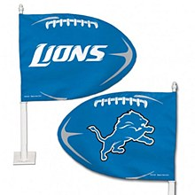 Detroit Lions Car Flaf Football Shaped