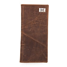 University of Michigan Wallet Secretary Leather - Brown