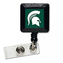 Michigan State University Badge Holder Retractable