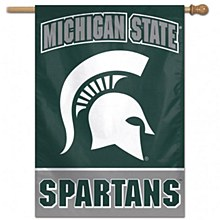 "Michigan State University Banner - Spartans Vertical Flag 28"" x 40"""