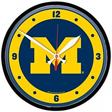 "University of Michigan Clock - Round Wall 12.75"""