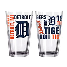Detroit Tigers Glass - 16oz Spirit Pint Glass