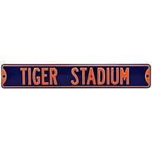 Detroit Tigers Sign - Tigers Stadium Steel Sign 6''x36''