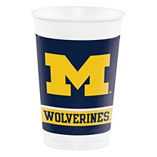 University of Michigan Cup - 20oz Plastic 8pk