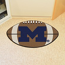 University of Michigan Rug  Football Mat 22'' x 35''