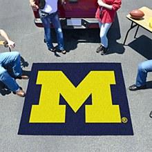 "University of Michigan Rug - Tailgater ""M"" Logo Rug 5' x 6'"