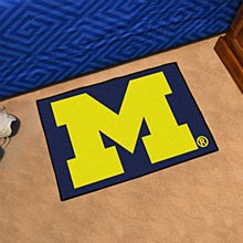 "University of Michigan Rug - ""M"" Starter Rug 19'' x 30''"