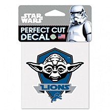 Detroit Lions Decal  Perfect Cut Yoda 4' x 4'