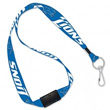 Detroit Lions Lanyards with Breakaway 3/4""