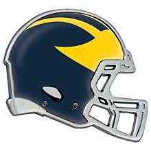 University of Michigan Emblem Chrome Metal Helment Shaped