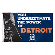 Detroit Tigers Fag - Star Wars Darth Vader Deluxe Flag 3' X 5'